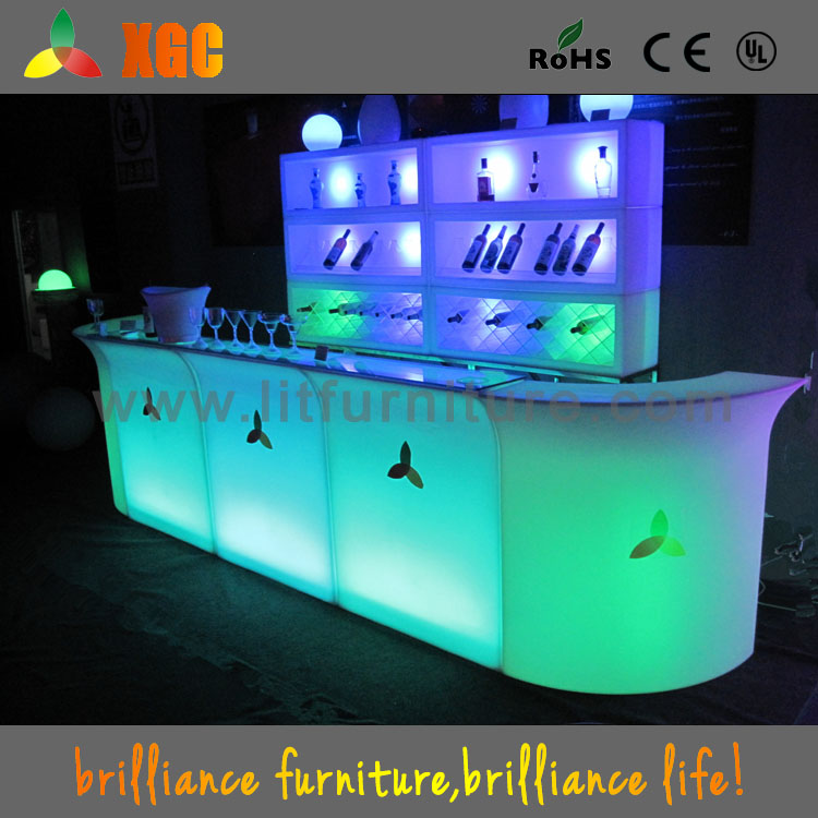 Mobile Bar Table with Lighting