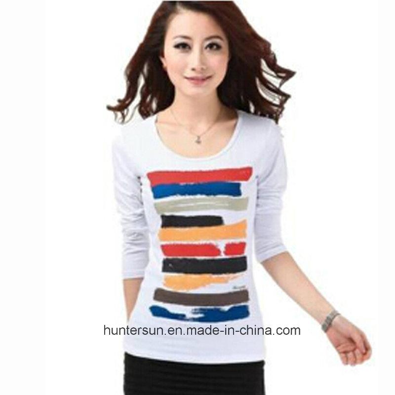 Women New Slim Fit Printed T Shirt (HT8067)