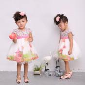 1-5 Years Sleeveless Cotton Printed Baby Dress Designs 3002#