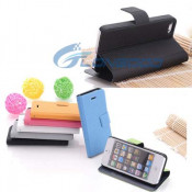Football Pattern Horizontal Flip Button Leather Case with Credit Card Slots & Holder for iPhone 5 5g