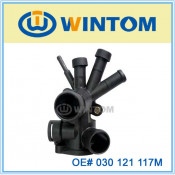 Hot Selling Coolant Water Flange, Plastic Thermostat for Vw (030 121 117M)