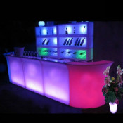 LED Snake Bar Counter, LED Light Bar Furniture Bar Counters, LED Plastic Bar Counters