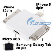 Micro USB Multi-Functional Data Sync Power Charge Adapter for iPhone