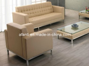 Modern Simple Style Leather Hotel Furniture Sofa Set (8204)