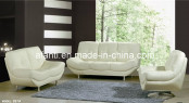 Popular, Comfortable Living Room Furniture White Leather Sectional Sofa (877)