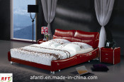 Popular Home Furniture Modern Leather Bed (J206)