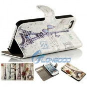 Tower PU Leather Belt Flip Wallet Case for iPhone 5 5s