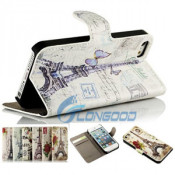 Tower PU Leather Wallet Flip Case for iPhone 5g 5s