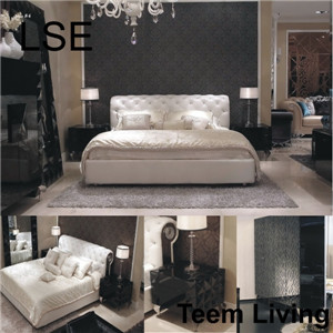 Lse leather bed full size bed hotel bed bedroom furniture for What is a french bed in a hotel
