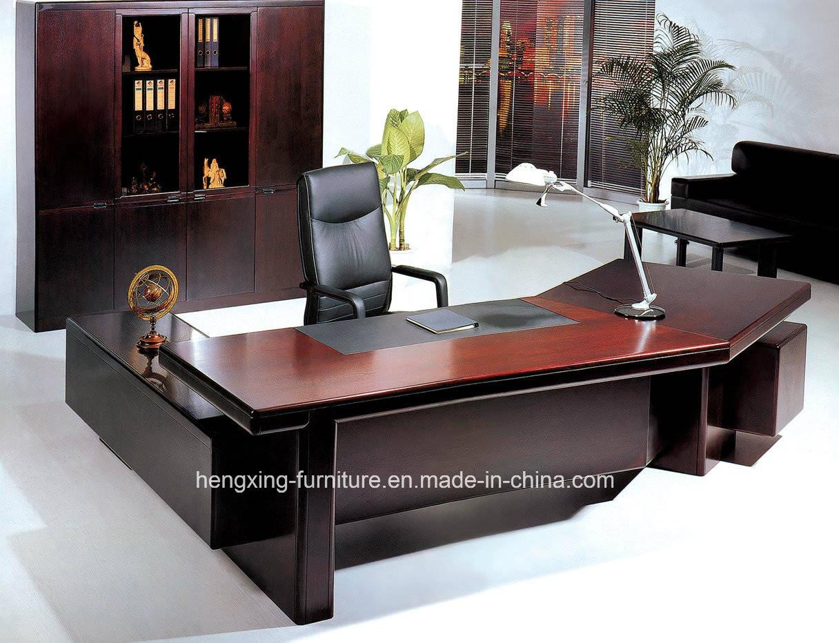 Modern office solid wood veneer executive office table for Incredible modern office table product catalog china
