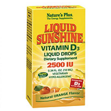 Liquid Sunshine Vitamin D3 2500 IU Liquid Drops - Orange Flavour