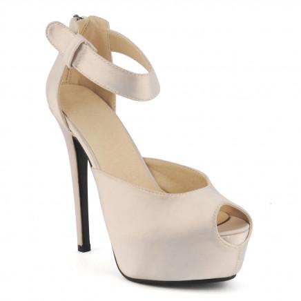 2015 Fashion High Heel Ladies Peep Toe Sandals (HCY02-1763)