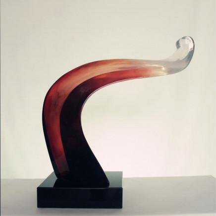 Abstract Red Resin Nude Decoration Sculpture
