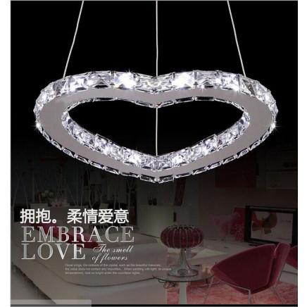 Bling Heart Shape LED Crystal Light for Wedding Decoration