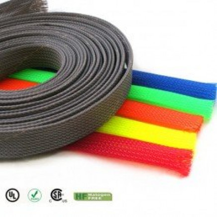 Colored Pet Expandable Braided Sleeving for Cable Wire