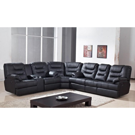 buy online 59eb6 2058c Corner Sofa with Table and Cup Holder Recliner Sofa (E-3651 ...