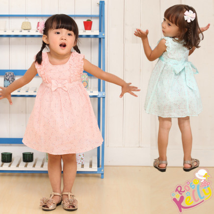 Little Girl Pink Floral Cute Baby Dress, Baby Girls Dresses