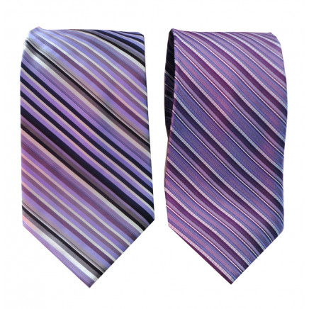 Striped Ties Silk and Polyester