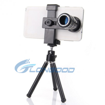 12X Optical Zoom Mobile Phone Telescope Lens Withtripod + Univeral Holder for All Smartphone