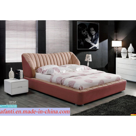 2015 Modern Bedroom Bed Soft Fabric Cloth Bed (L876)