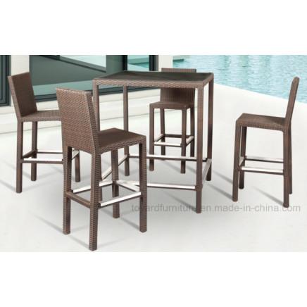 Aluminum Rattan Garden Highchair Outdoor Garden Furniture (B420)