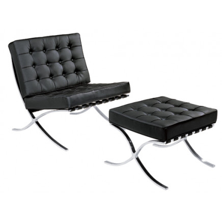 Barcelona Recliner Chair/Chaise Lounge (F66)