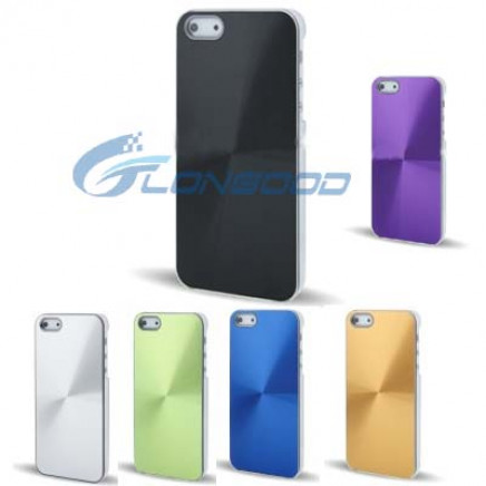 CD Texture Crystal Metal Aluminum Case for iPhone 5