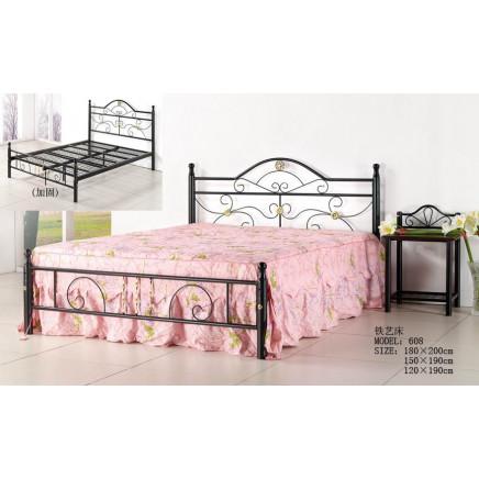 Comfortable Metal Flat Double Bed (608#)