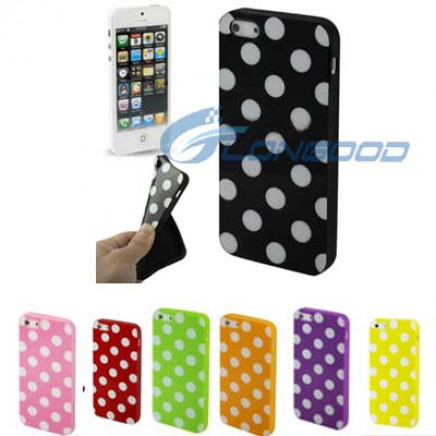 Cute DOT Pattern Shape TPU Back Cover Case for iPhone 5