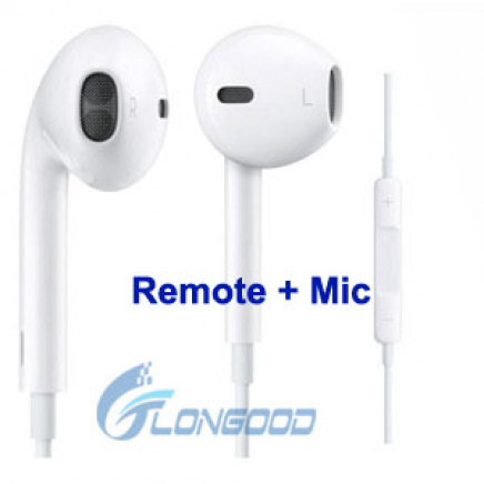 Earphone Earbuds with Remote & Mic for Apple iPhone 5, iPhone 4, 4s, iPod iTouch (IP5G-073)