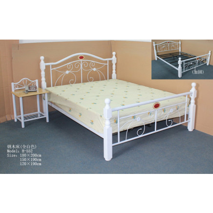 Fashion White Home Bed Steel Bed (H-552#)