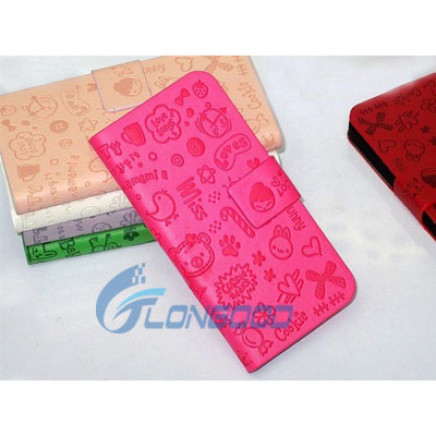 High Quality PU Leather Cover Case for iPhone 5