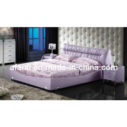 Home Furniture Soft Modern Leather Bed (RFT-A036#)