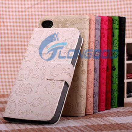 New Graffiti Flip PU Leather Case Cover Skin for iPhone 5 5g 5s