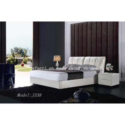 Pure White Modern Cheap Bedroom Furniture (J338)