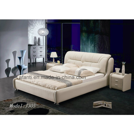 Square Modern Competitive Bedroom Furniture with Bedstands (J305)