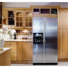 #2012-101 Stained Grade Solid Wood Door Kitchen Cabinets
