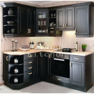 #2012-102 Solid Finished Natural Wood Kitchen Cabinets