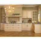 (#2012-40) White Color Solid Wood Door Kitchen Cabinets