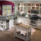 (#2012-45) Antique White Solid Wood Kitchen Cabinet