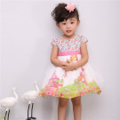 100% Cotton Printed Flower Girl Dress of 1 Year Old
