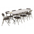 183cm Solid White Plastic Folding Table (SY-183Z)