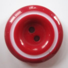 2 Holes Flatback Dyed Red Color Resin Button