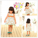 2014 Baby Frock Designs with Printing for Baby Frock