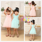 2014 Baby Girl Summer Wear Birthday Dress (9213)