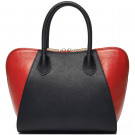 2014 Fashion Combined Colors Leather Mature Women Handbags