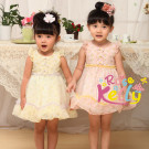 2015 Hot Sale Girl Ruffled Dress for Princess, Baby Clothes