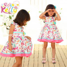 2015 Popular High Quality Butterfliy Summer Cotton Baby Dress (9318V)