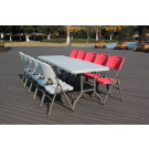 240cm Rectangle Banquet Fold-in-Hlaf Table