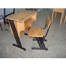 Wood School Desk and Chair (MXZY-088)
